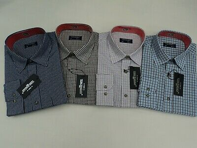 Mens Checked Casual Shirt Tom Hagan Long Sleeves Yarn Dyed From Size 15.5-18