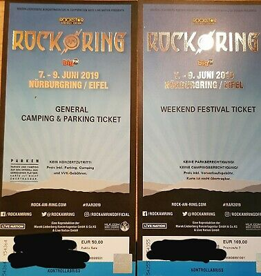 Rock Am Ring 2019 Ticket - Weekend Festival   General Camping