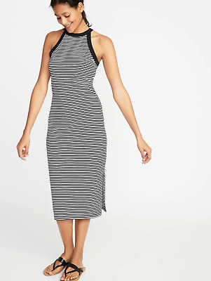 f745e36fc Old Navy Fitted High-Neck Sleeveless Midi Dress for Women Black Tall XL  #412745