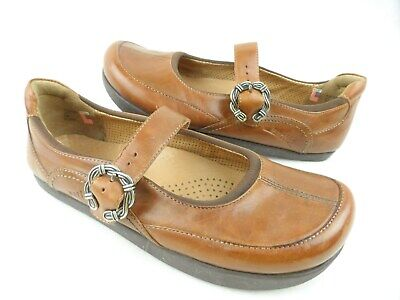 3f50163fc3 Kalso Earth Ivy Almond Leather Mary Jane Women's Shoes Strap Buckle Sz US 7  B