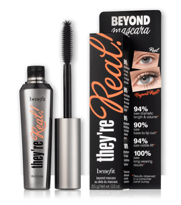 Beyond Mascara Black 8.5G Eye Lash Extension New Benefit They're Real - Uk Stock