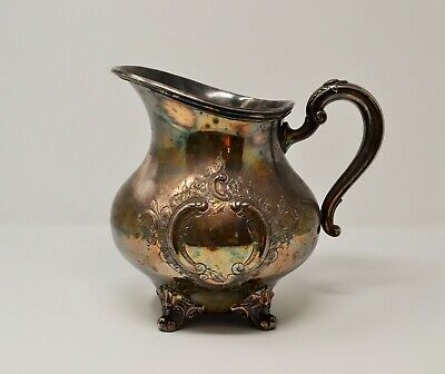 "Vintage Silverplate Reed & Barton Regent 5600 Ornate Water Pitcher, 8"" Engraved"