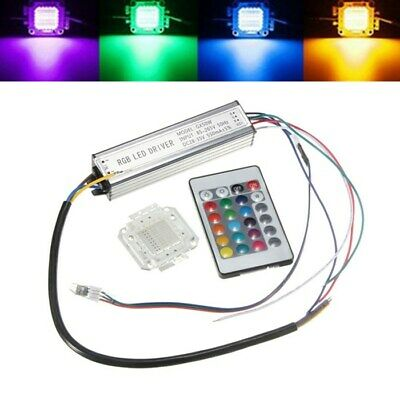 50W RGB Chip Light Bulb Waterproof LED Driver Power Supply with Remote