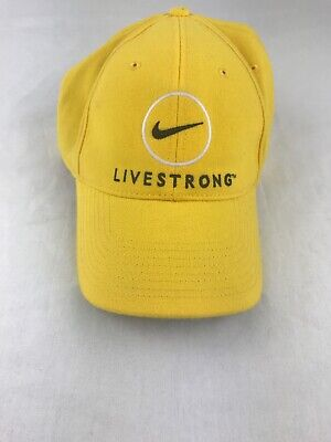 68938e6107862 NIKE LIVESTRONG STRETCH fit cap yellow black hat -  14.64