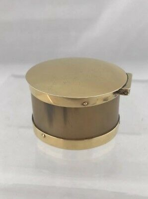 Solid Sterling Silver Gilt & Horn Pill Box 1978 London