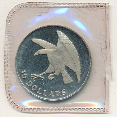1974 Singapore Mint Proof Silver $10-In Box! Beautiful Silver Coin-Free S/H!