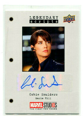 COBIE SMULDERS 2019 UD Marvel Studios The First Ten Years Avengers Auto Card SP