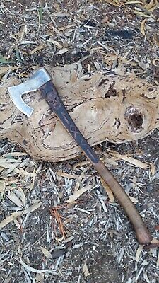 D Knife Designs Aussie Made Usable Custom Large Axe and Leather Sheath