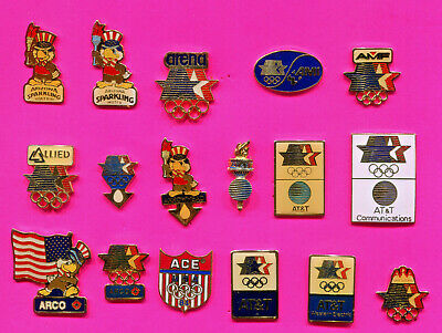 1984 Olympic Pin At&T- Allied- Amf- Ami 17 Sponsor Pins Pick 1-2-3-4 Or All