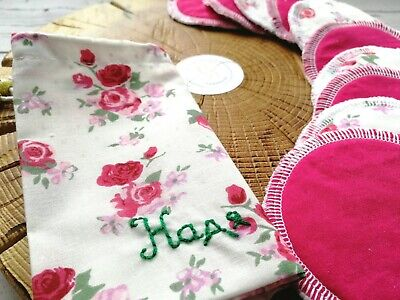 Reusable face pads with a personalized bag Cotton face rounds set Makeup Wipes