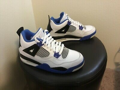 newest 77b57 c27d1 Air Jordan 4 Retro Kids size 6Y youth used in great condition white blue