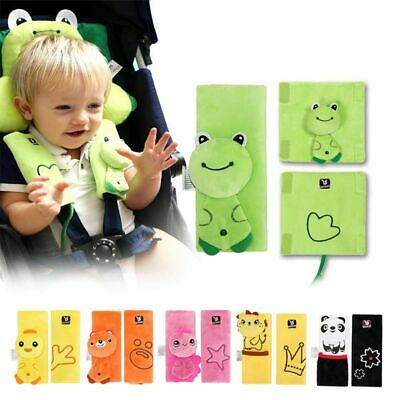 Belt Strap Cover Baby Cartoon Car Seat Pad Cushion For Infant Stroller Pushchair