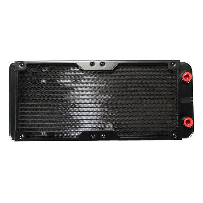 G1/4 18 Tubes 240mm Aluminum Computer Radiator Water Cooling Cooler For PC CPU
