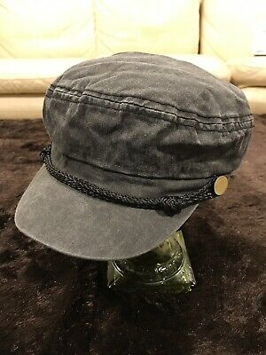 4be1d1ad2ab76 David   Young Dark Gray Black Cabbie Fisherman s Style Cap Hat Women s OS  NWT