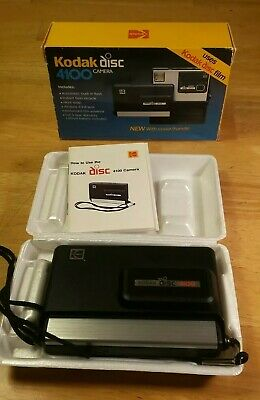 Kodak Disc 4100 Camera - Vintage  complete with box and manual .80s vtg