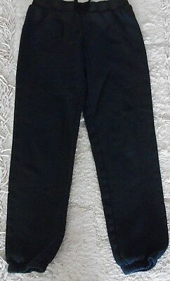 Unisex Black Mango Fleece Track Pants - Size 12
