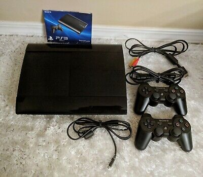 SONY PLAYSTATION 3 CECH-4001B PS3 - SUPER SLIM 250 GB Console - Bundle
