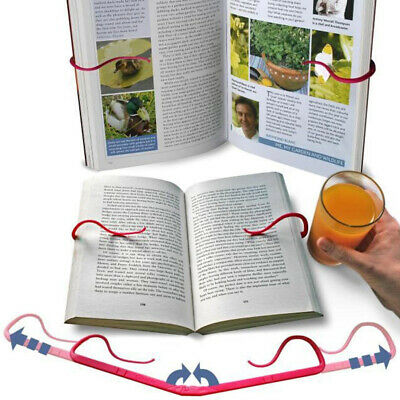 Creative Hands Free Book Page Holder Adjustable Bookmark for Reading Portable &