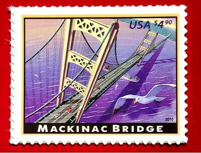 2010 US SC #4438 $4.9 Mackinac Bridge Michigan Priority Mail MNH