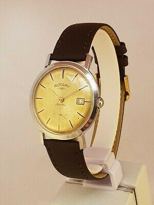 Gent's Vintage Swiss Rotary Stainless Steel Screw Back Wristwatch Nice!