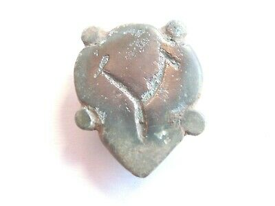 IRON AGE Hallstatt Culture ANCIENT Celtic Billon with DRIUD RUNIC Amulet / Mount
