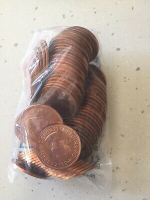 Approx 100 Coins - 1967 One Penny's  **UNCIRCULATED**