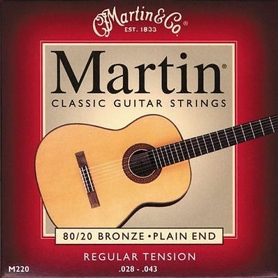 Muta Set Di Corde Martin M220 Bronze Chitarra Classica 28 43 High Tension