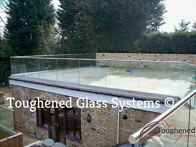 Cut To Size Frameless Glass Balcony Balustrades with Base Channel