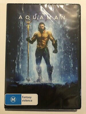 Aquaman DVD (Brand NEW & Sealed) Region 4 Jason Momoa 2019 Movie 🍿 Marvel DC