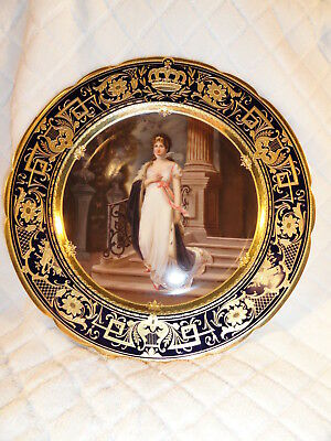 Beautiful Handpainted DRESDEN Portrait Plate Royal Vienna Antique
