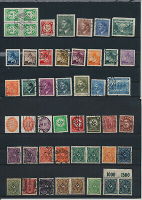 Germany, Deutsches Reich, Nazi, liquidation collection, stamps, Lot,used (CR 21)