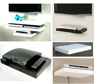 Floating Media Shelve Shelf Rack Stand Wall Mounted Sky Xbox Tv  Dvd Dvr Holder