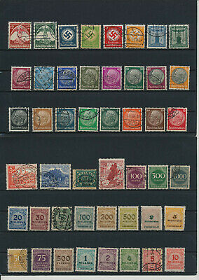 Germany, Deutsches Reich, Nazi, liquidation collection, stamps, Lot,used (CR 38)