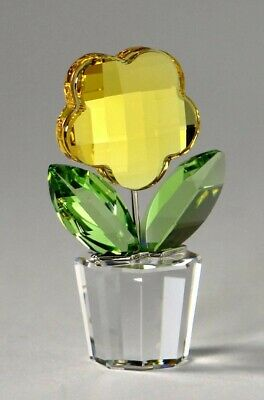 Swarovski Crystal Yellow Flower Retired #628568