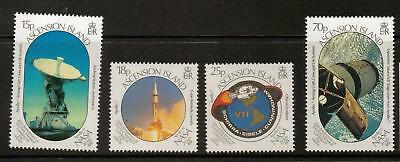 Ascension Sg493/6 1989 First Man On The Moon Mnh