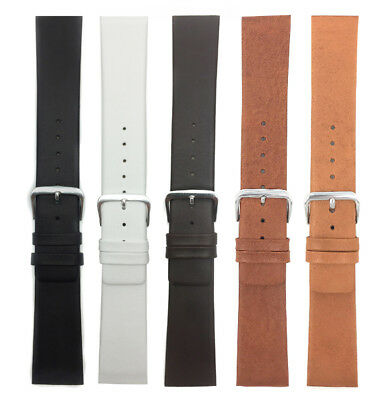 Genuine Leather Skagen Watch Strap Band, Screw Fit,12-31mm White Black Brown Tan