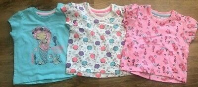 Primark Pk3 Baby Girls Mermaid T-Shirts Top Bnwt All Ages