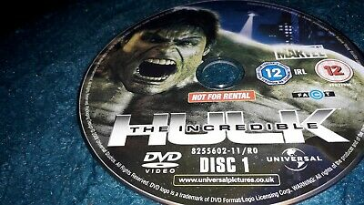 The Incredible Hulk DVD Edward Norton Disc only no case