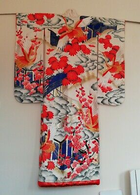 Pure silk wedding kimono antique japanese