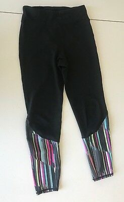 GapFit Girls Sports Legging Black/Multi-Color SIZE XL (12)