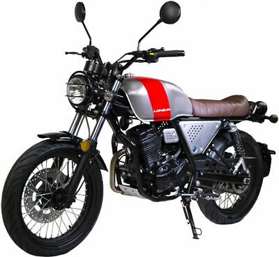 Razory R59 Buccaneer 125 ccm Cafe Racer Euro 4 Duales Bremssystem Silber-Rot