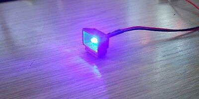 1//24th Scale Fairground Model Ride LED Flood Lights X4 on Pole High Detail