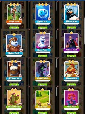 Coin Master Cards lower star VARIOUS Fast Delivery