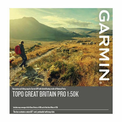 NEW 2019 TOPO Garmin GB Great Britain PRO Map SD card Edge eTrex, Montana,1:50