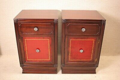 Pair of Chippendale Mahogany Bedside Tables/Nightstands Circa 1930