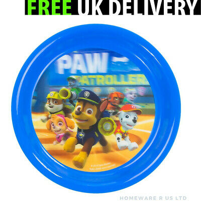 Boys Childrens Paw Patrol 3D Dinner Plates 20 Cm  Lunch Breckfast Meals Plastic