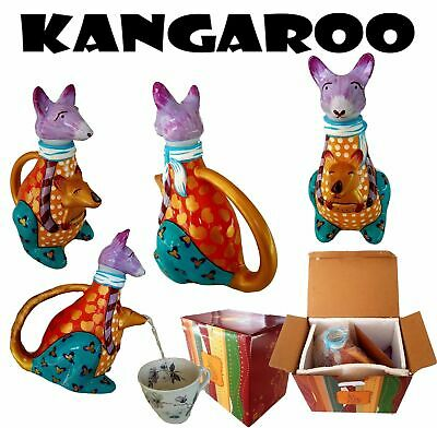 Kangaroo Collectable Ceramic Novelty Tea pot Teapot Animal hand painted Ozzy