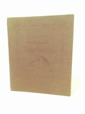 Early 1900's Index Of Victor Records His Master's Voice Unused Booklet
