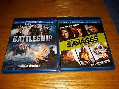 Taylor Kitsch (2) Blu-Ray Lot: Savages Unrated Edition & Battleship
