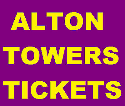 2 Alton Towers Tickets For Sunday 15th September 15/9/19 RRP £112